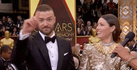 New party member! Tags: oscars academy awards nope justin timberlake sassy sass jessica biel finger wag oscars 2017 uh uh academy awards 2017 oscars red carpet