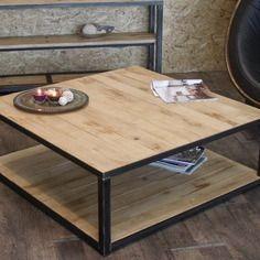 Table basse bois métal style industriel