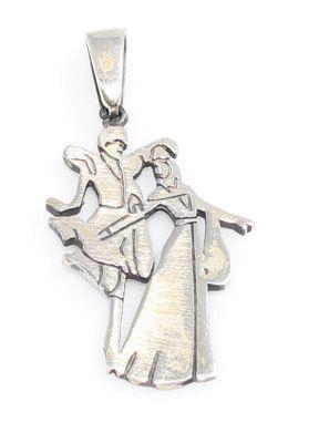 925 Ayar Gümüş Kafkas Dansçıları Kolye Ucu