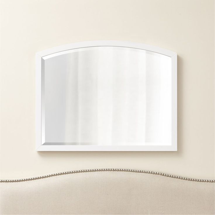 Arch White Wall Mirror - Crate and Barrel