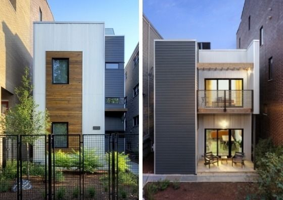 customizable green homes priced at $150 – $250 per square foot in CHicago on a 25' x 25' lot