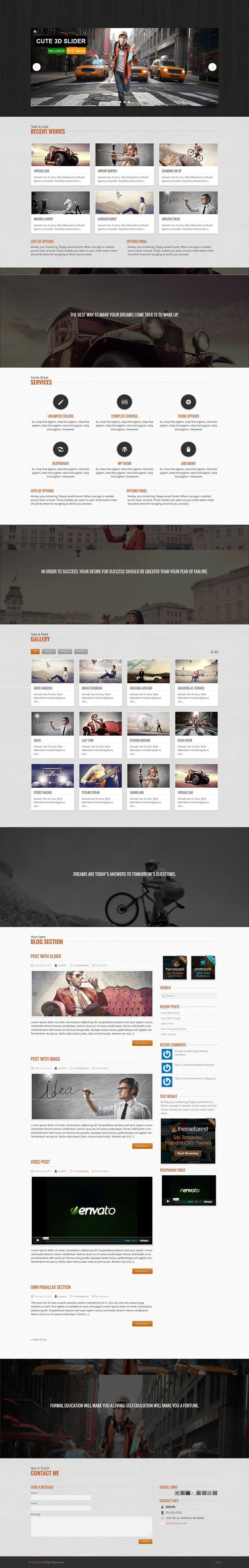 Great one page WP theme with tons of options and features.