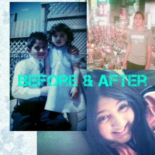 Before & After (me and my brother)