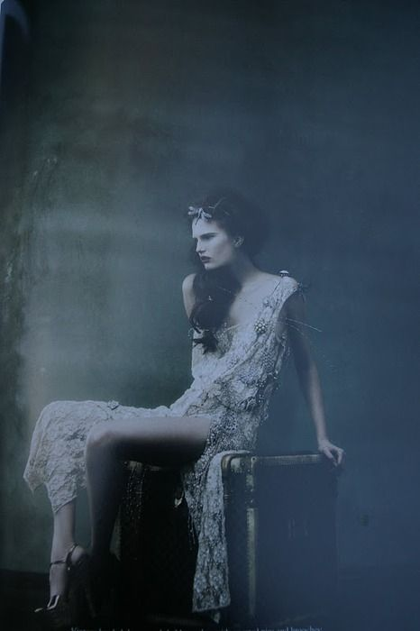 Ghostly, ethereal, and still wearing the pissed off teenage expression. Ah well, somethings don't change after death.