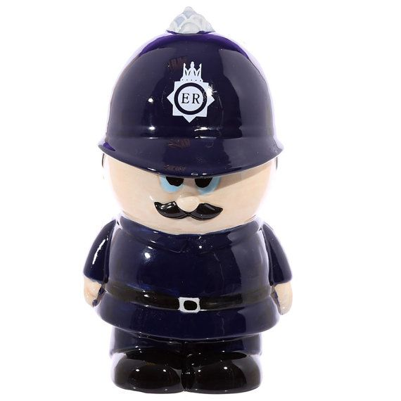 Money Box Novelty Ceramic Policeman Gift Ideas by getgiftideas