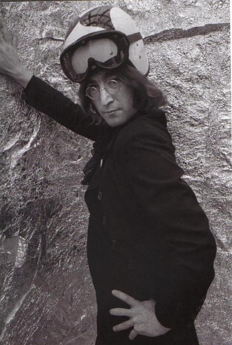 John Lennon strikes a pose...very fierce lol