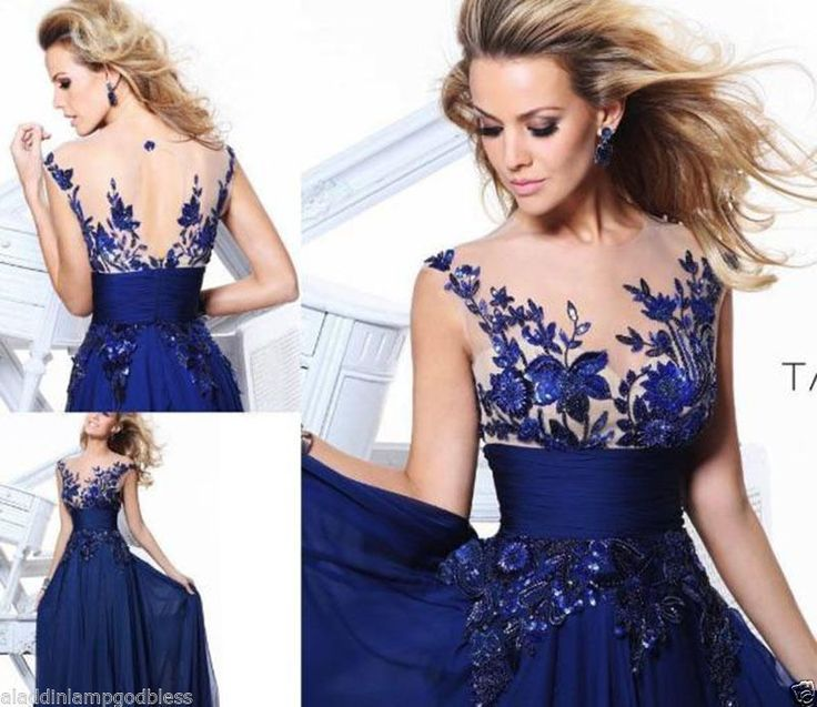 Evening Formal Blue Long Bridesmaid Prom Cocktail Ball Corset Gown Skirt Dress | Clothing, Shoes & Accessories, Women's Clothing, Dresses | eBay!