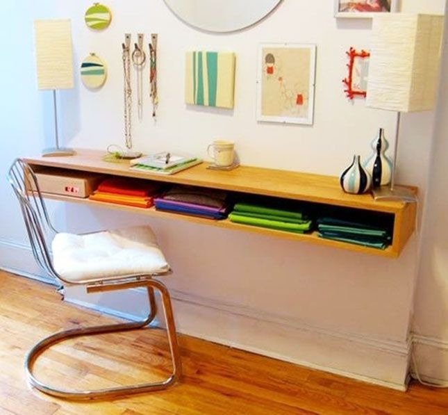 If the four walls of your home are a little closer together than you'd like, you'll need a compact solution to incorporate an office workspace into your pad. Whether you're routinely working from home or just need a place to set down a book, these 22 wall mounted desks are a super smart and ultra modern option.