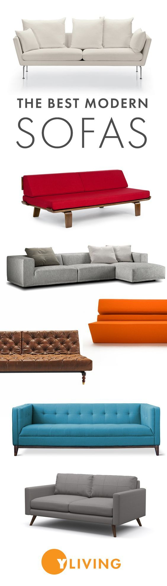 Set the style of your space and take your pick from our premium collection of classic and contemporary pieces from standard sofas, sectionals, loveseats, and daybeds. http://www.yliving.com/category/Furniture/Sofas/_/N-16zbj