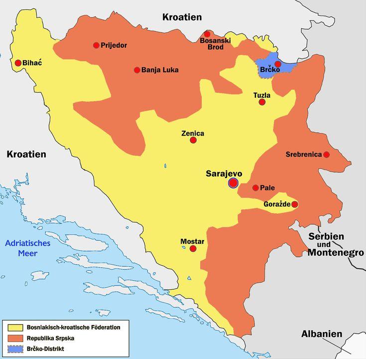 Bosnien und Herzegowina Landkarte | Bosnien und Herzegowina Reiseführer