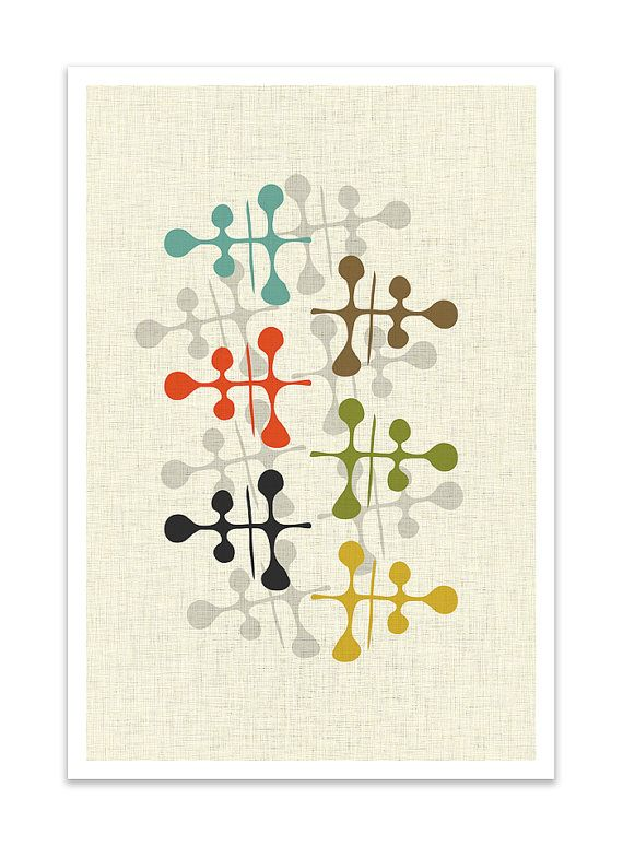 FORMATION  Giclee Print  Mid Century Modern Danish by Thedor, $24.00