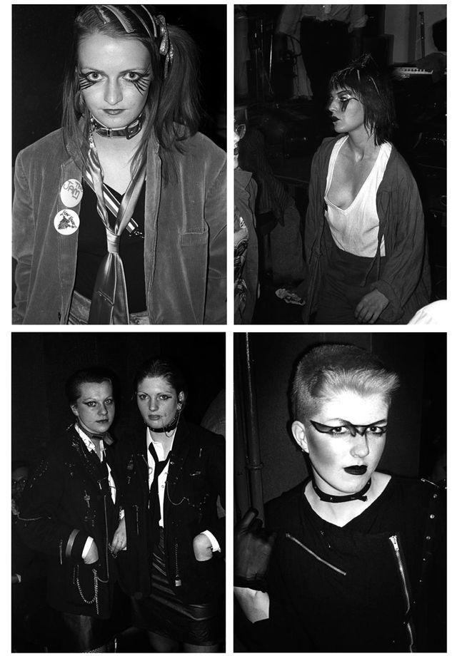 Punk girls at the Vortex Club, London 1977.