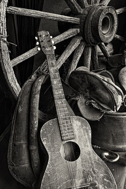 Western Still Life, old guitar...