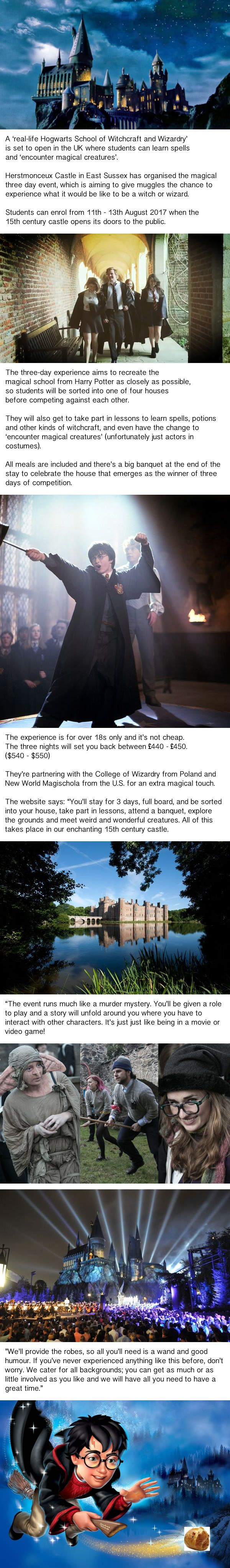Hogwarts in Real Life! WORTH IT?!?!