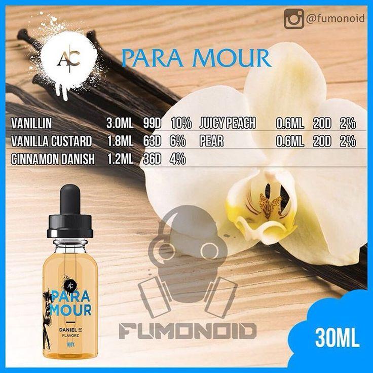 Njoy (Para Mour) - яркие ноты груши и персика смягчаются богатой кремовой ванилью и мягким заварным кремом. Легкое прикосновение ореха и корицы делают аромат более мягким и приятным #fumonoid #njoy #paramour #premium #премиум #пар #парение #vape #vapour #жижа #жидкость #жидкостьдляэлектронныхсигарет #рецепт #клон #recipe #clone #замес #самозамес #vanillin #vanillacustard #cinnamondanish #juicypeach #pear #ваниль #груша #персик #корица