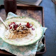Cranberry Toasted Coconut Flax Seed Oatmeal (via www.foodily.com/r/yAHcIBPsW): Flax Seeds, Coconut Flax, Healthy Breakfast, Coconut Oatmeal, Seeds Oatmeal, Coconut Flakes, Toast Coconut, Dry Cranberries, Cranberries Toast