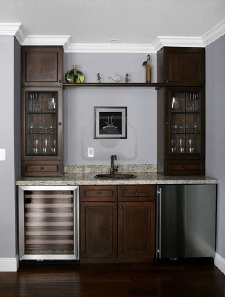 Pin on basement remodel - Built in home bar ...