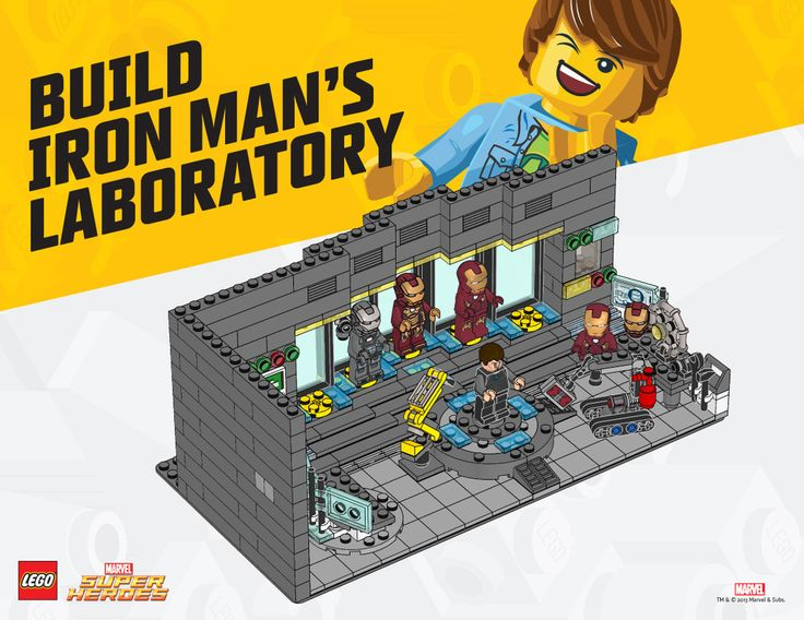 Iron Man Secret Lab/Hall of Armor LEGO Club exclusive build