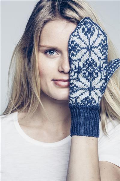 Tema 42: Modell 22a Blomst med krøll votter #strikk #knit #sisu