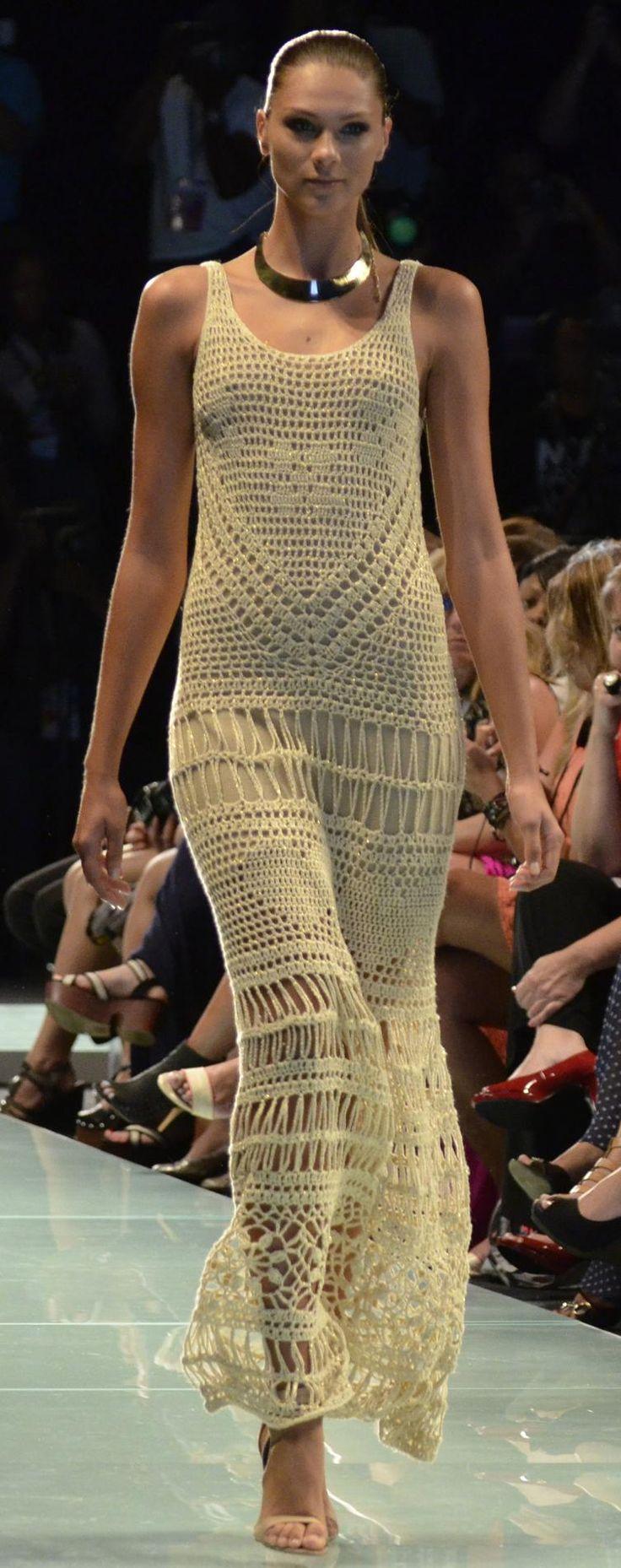 crochet dress by Agostina Bianchi