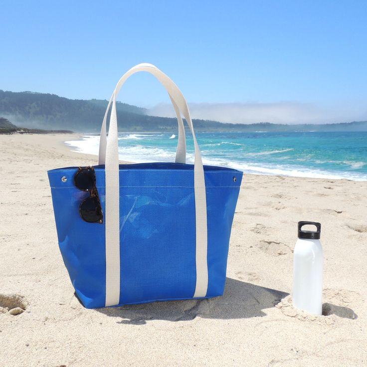 Beach Tote in Ocean Blue - Enjoy the last long weekend of summer. Happy Labor Day weekend!