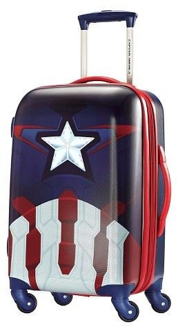 "American Tourister Captain America Hardside Spinner Luggage - Red/black (21"") #affiliate"