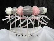 pink, grey and white cake pops .... Cute favours... In keeping with tradition :)