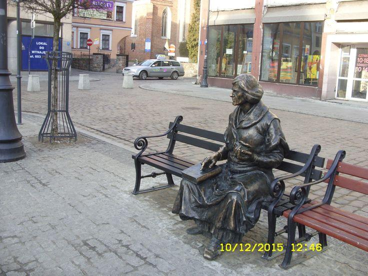 Ławeczka z Mikołajem Kopernikiem-Grudziądz