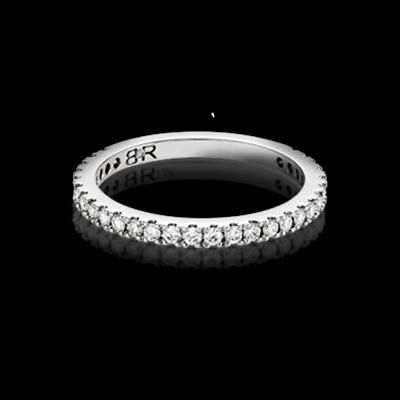 FOR HER - Orbis diamond wedding band with 18 full cut diamonds (total approximate diamond weight of 0.18ct). Available in 18K white gold or platinum. Designed to match perfectly with the Orbis engagement ring.