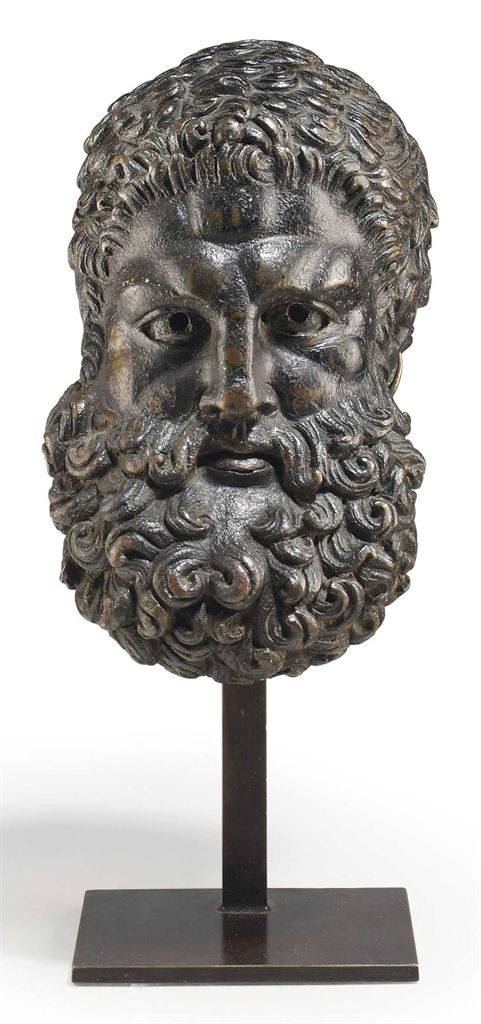 A ROMAN BRONZE HEAD OF HERCULES, CIRCA 1ST CENTURY A.D. 4 3/8 in. (11.1 cm.) high. I Christie's