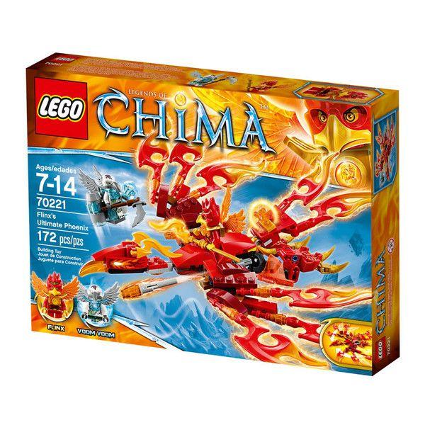 Flinx' fantastiske føniks fra Lego Chima. Lego Chima er en spændende action- og kampserie fra Legotil drenge i alderen 7-14 år, som handler om et uberørt para