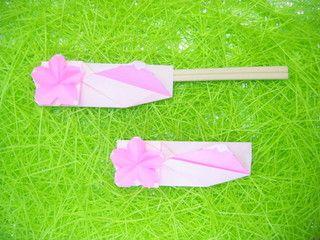 富士山と桜の箸袋折り紙3