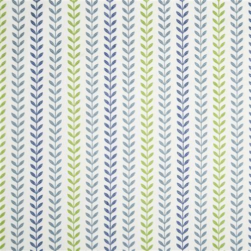 Viney Lines - Robert Allen Fabrics Calypso Blue