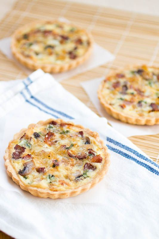 Cream Cheese, Caramelized Onion And Bacon Quiche Recipe — Dishmaps