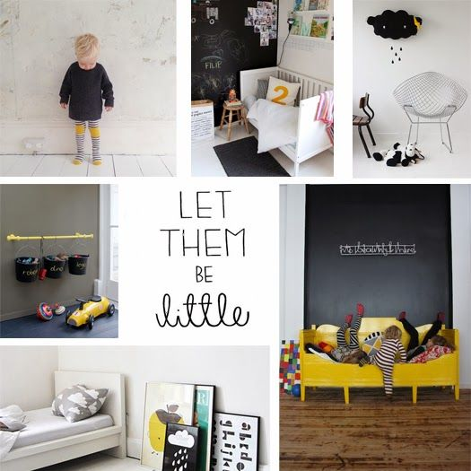 Let them be little | The Little Design Corner | Black white and yellow | Kids | Little People