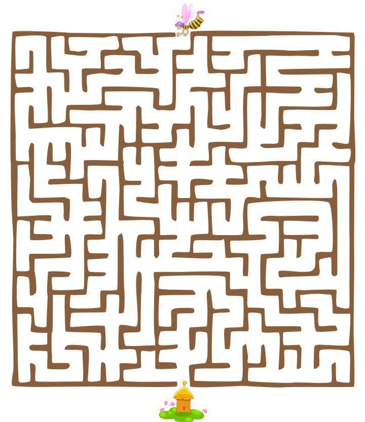 labyrinty bludiská na vytlačenie http://pisupisu.pl/klasa3/labirynty-do-wydruku-2
