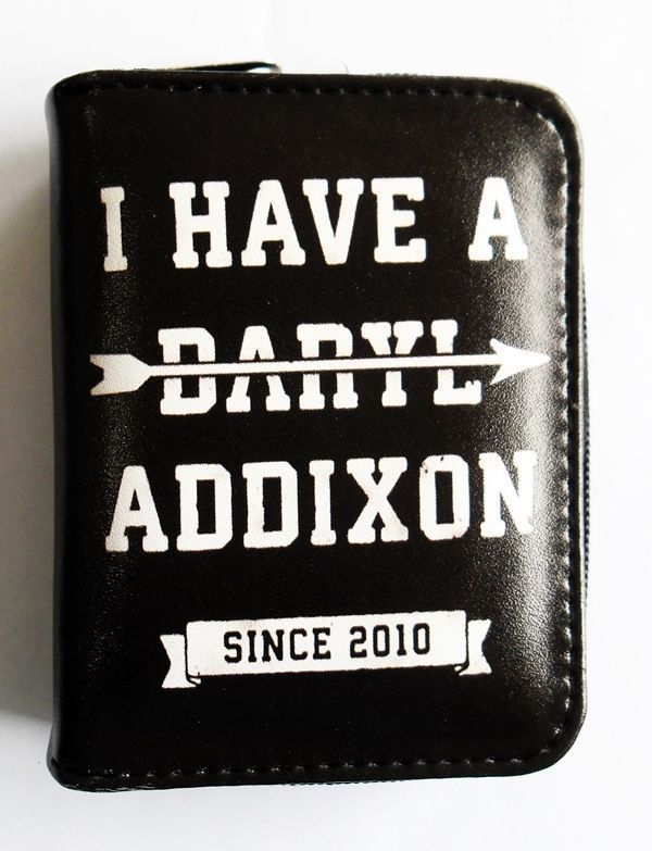 I Have a Darly Addixon, The Walking Dead Zippered Pouch Pleather Vegan Wallet #Unbranded #Envelope