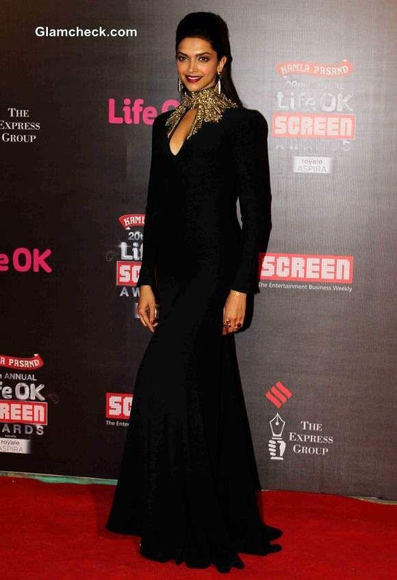 Deepika Padukone in Alexander McQueen gown at Life OK Awards