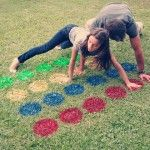 Create your own large outdoor twister!