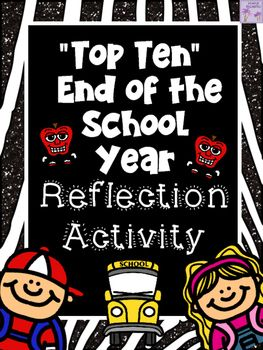 "**DOLLAR DEAL TODAY!!**This ""Top Ten"" Activity Book is a great reflective activity for the end of the school year. Simply make a copy of each page for your students.  The pages were left somewhat blank so that graffiti style artwork and fancy lettering could be created by your students."