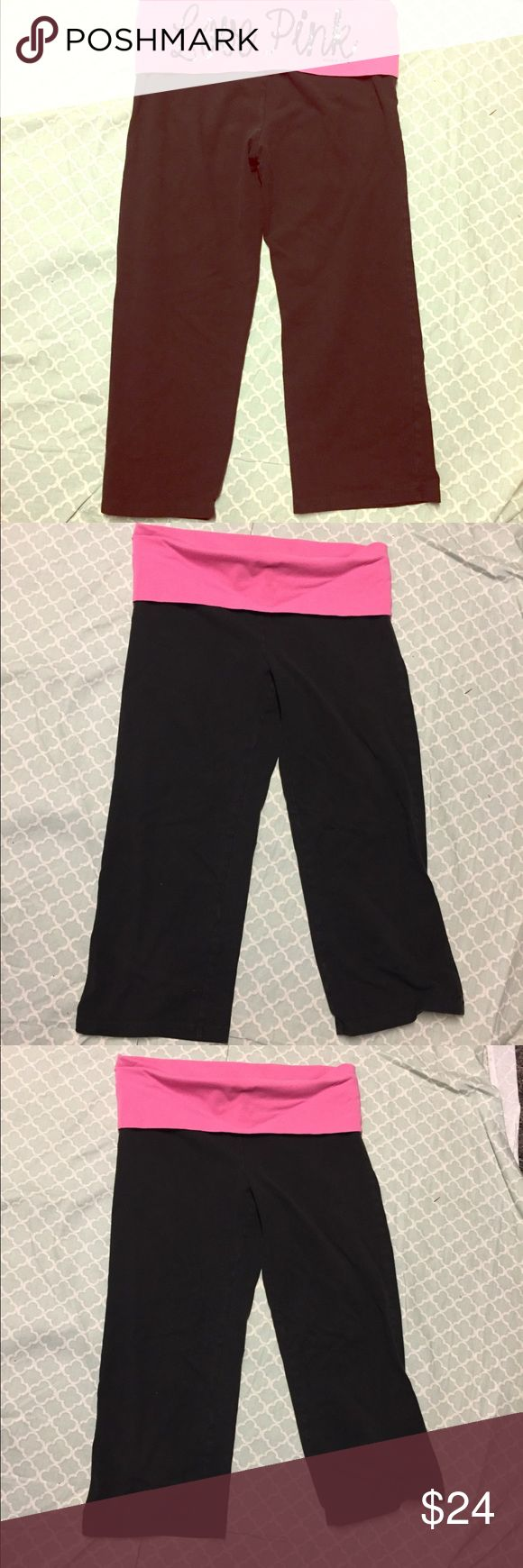 """VS PINK SZ Small Black """"LOVE PINK"""" Capri Pants EUC VS PINK SZ Small Black """"LOVE PINK"""" Capri Pants EUC. Very cute Capris in great condition. Back of waistband has """"Love Pink"""" in black cursive sequins. Inseam is 18"""" size Small. PINK Victoria's Secret Pants Capris"""
