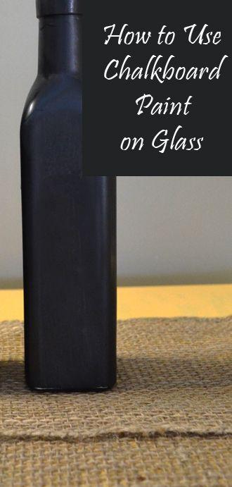 #KatieSheaDesign ♡❤ ❥ ▶ How to Use Chalkboard Paint on Glass