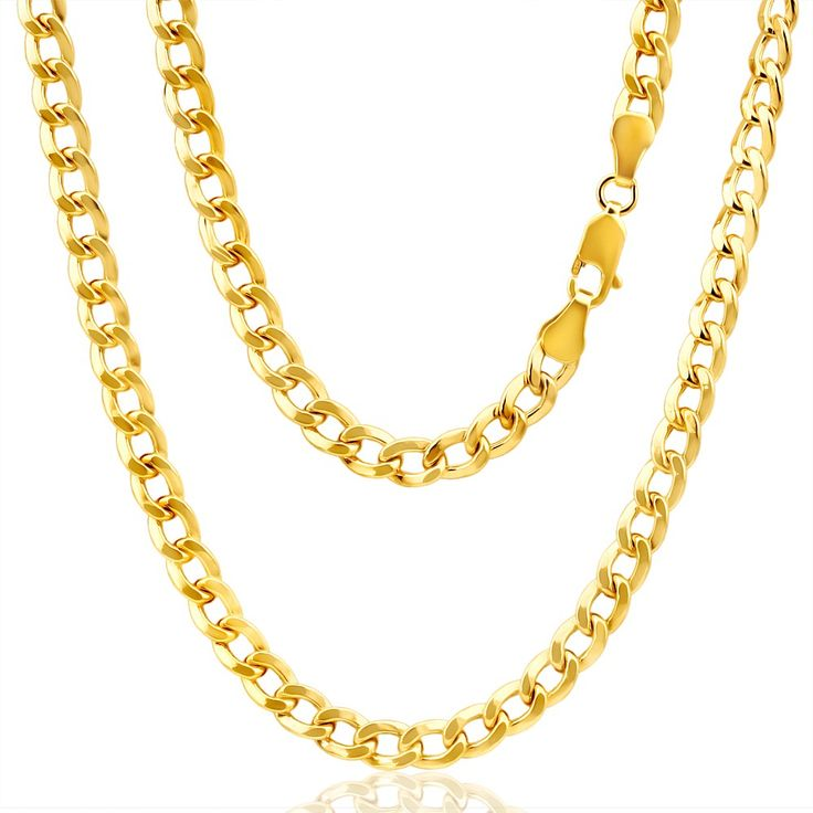 Curb Chain in 9ct Yellow Gold-Filled 45cm