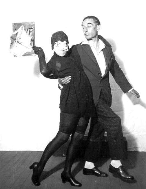 Claude Cahun, Pierre Albert-Birot et Vanni, Vanna, 1929.