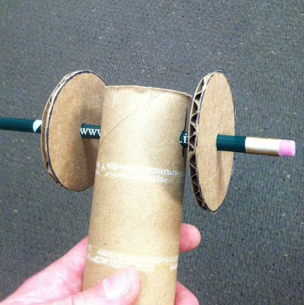 Front wheels and axle- hands on simple machine project