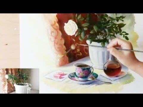КАК научиться РИСОВАТЬ СТЕКЛО и МЕТАЛЛ в натюрморте - YouTube