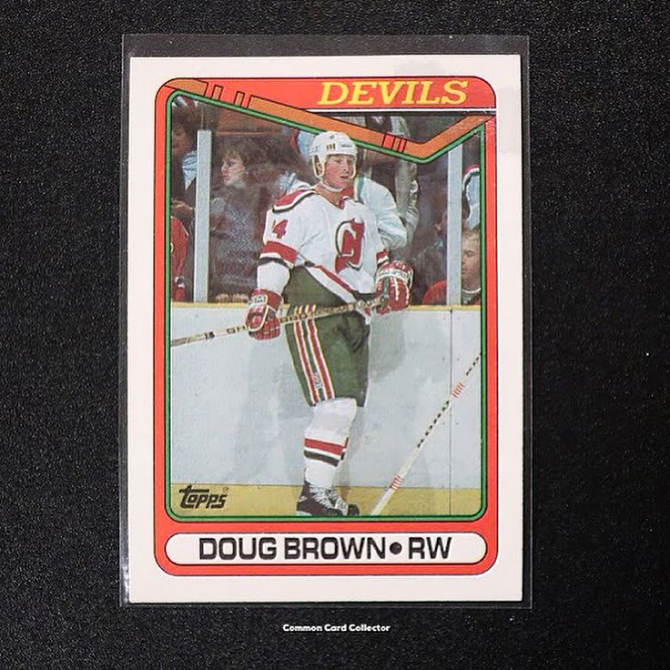 Todays #ThrowbackThursday card goes all the way back to 1990 featuring Doug Brown. . After four seasons at Boston College Brown was signed as an undrafted free agent by the New Jersey Devils. . In six years with the Devils Brown served as a solid complementary piece to their offense. In 350 games played he scored 148 points including 68 goals and 80 assists. . Brown had a brief stint in Pittsburgh in 1993-94 then joined the Red Wings the following year. . With Detroit Brown continued to…