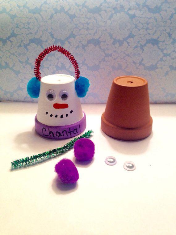 Cub Scout Christmas Party Ideas Part - 28: Make Your Own Snowman Pot Ornament, Paint Your Own Snowman, Girl Scout  Activityu2026