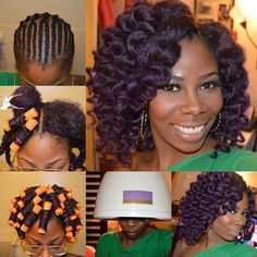 Purple Marley crochet braids #teamcrochetbraids #crochetbraidslove                                                                                                                                                                                 More