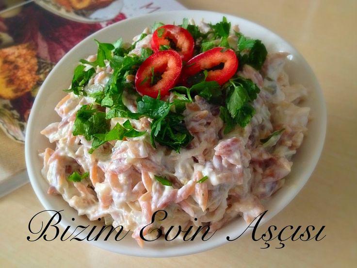 bizim evin aşçısı: Tavuklu-Köz Patlıcanlı Salata